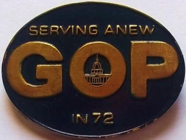 1972 GOP Convention Pin front