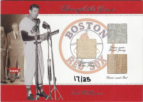 2002 Greats of the Game Through the Years Level 3 16 Ted Williams