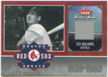 2006 Greats of the Game Red Sox Greats Memorabilia TW Ted Williams