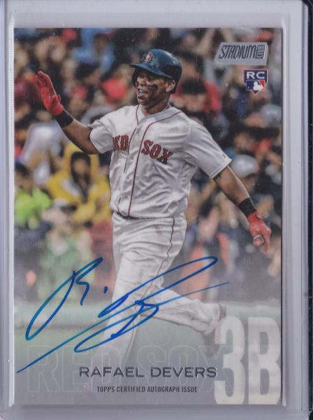 2018 Stadium Club Rafael Devers RC Auto